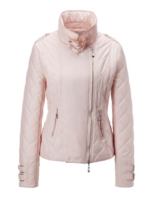 Quilted biker-style jacket
