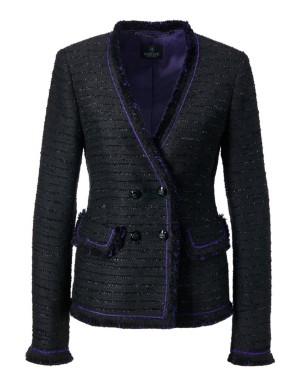 Frayed-edge blazer