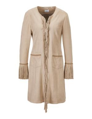 Open-front fringe jacket
