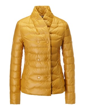 Double-breasted quilted jacket