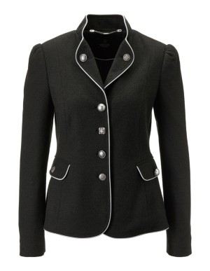 Blazer with contrasting piping