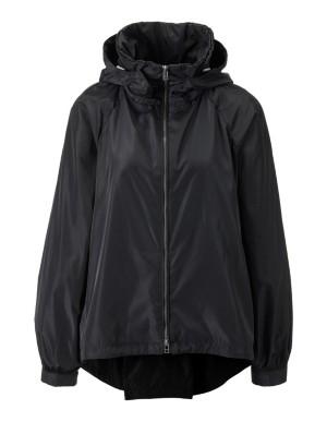 Oversized jacket with detachable hood