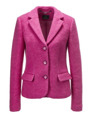 Fluffy wool blazer