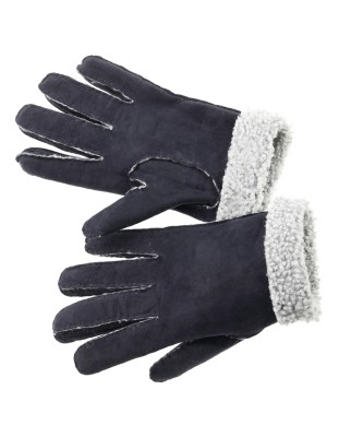 Soft suede gloves