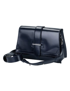 Smart leather shoulder bag