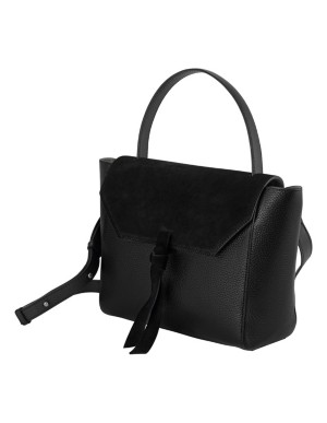 Suede and smooth leather bag