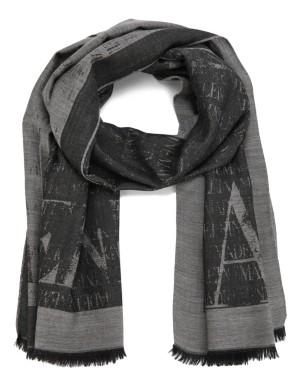 Fringed MADELEINE logo scarf