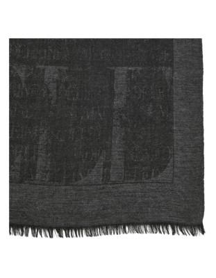 Fringed edge MADELEINE logo scarf
