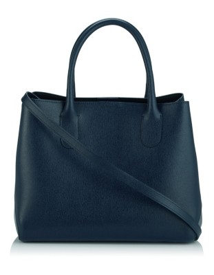 Leather tote bag with removable inner bag