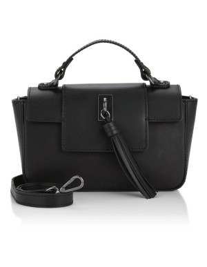 Shoulder bag with leather tassel