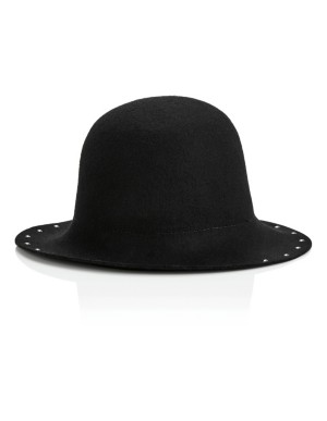 Bell-shaped premium wool hat