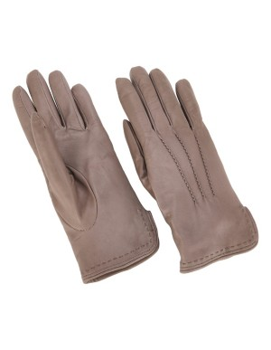 Gloves with decorative stitching