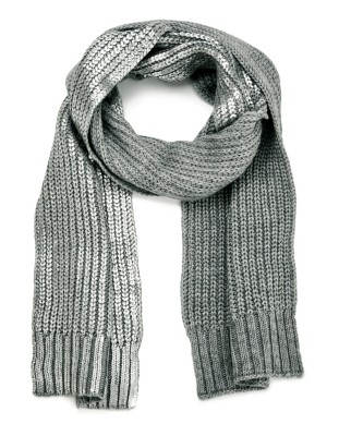 Coarse knit scarf