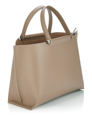 Handbag with removable suede and leather inner bag