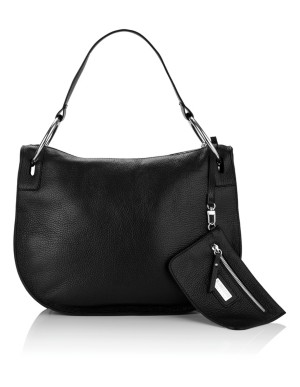 Italian leather shoulder bag with inner bag