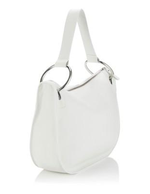 Italian leather shoulder bag with inner bag