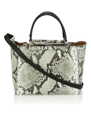 Italian embossed leather handbag