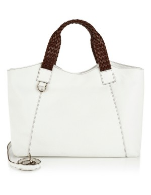 Italian leather shopper bag