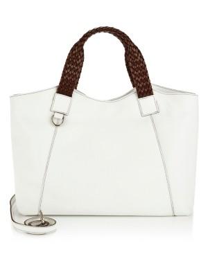 Italian leather shopper bag