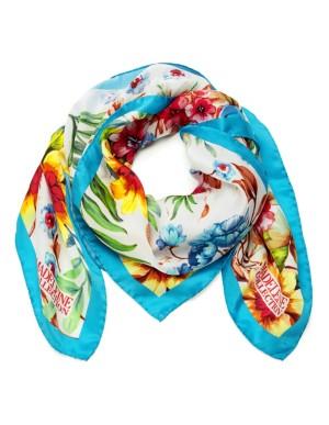Flowing silk scarf