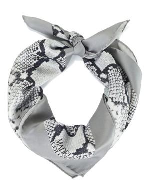 Silk snakeskin print scarf