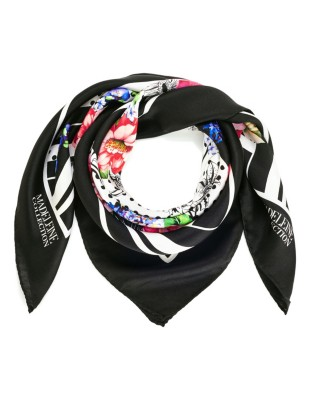 Contrast print scarf