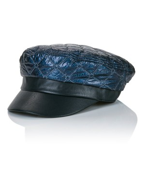Faux leather balloon cap
