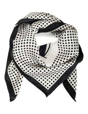 Silk 'M' logo scarf