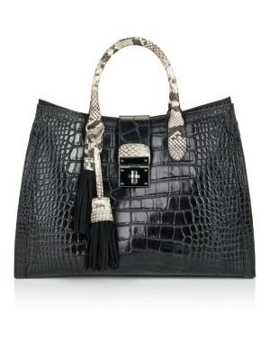Leather maxi bag
