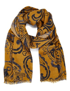 Paisley-patterned scarf