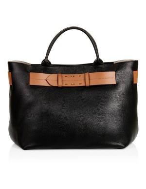 Embossed leather handbag
