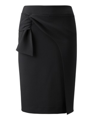 Skirt with wrap-around look