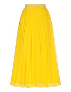 Pleated pure silk skirt