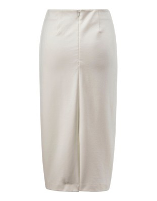 Jersey pencil skirt with back slit