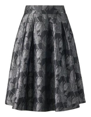 Iridescent jacquard skirt