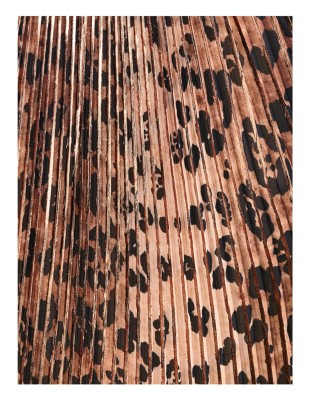 Leopard print plissé skirt