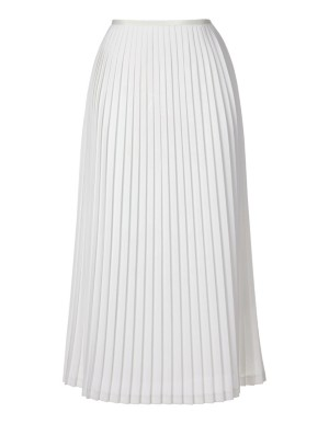 Flouncing, lined pleated skirt