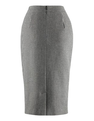 Front gathered pencil skirt