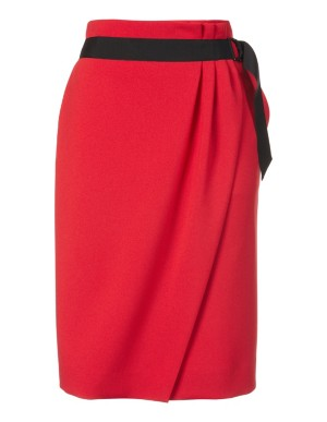 Flattering wrap-over pencil skirt