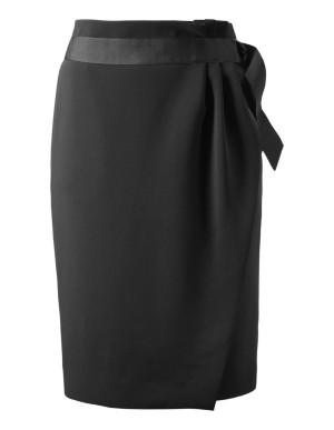 Flattering wrap-over pencil skirt
