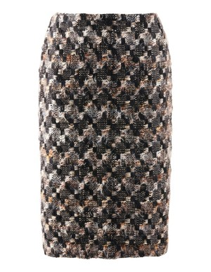 Novelty tweed pencil skirt