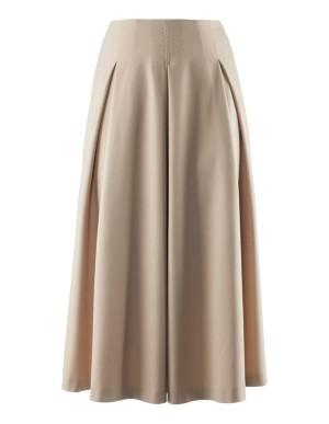 Full-length, easy-care skirt