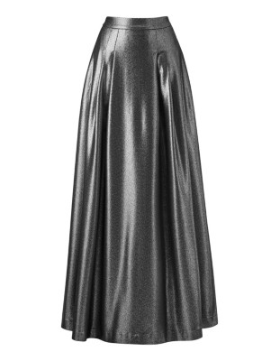 Sweeping metallic skirt