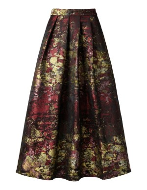 Swirling jacquard skirt
