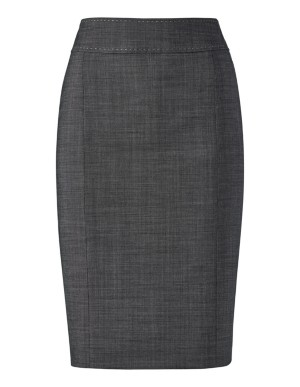 Pencil skirt with contrast stitch detail