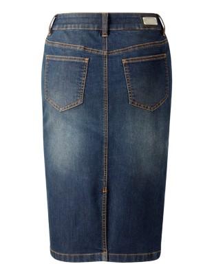 Stonewash denim skirt