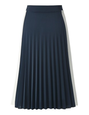 Wide pleated skirt with elasticated waistband