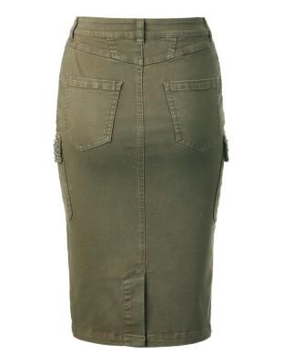 Denim skirt with slit