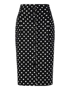 High-waisted, tapered skirt