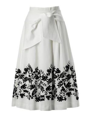 Flared embroidered summer skirt